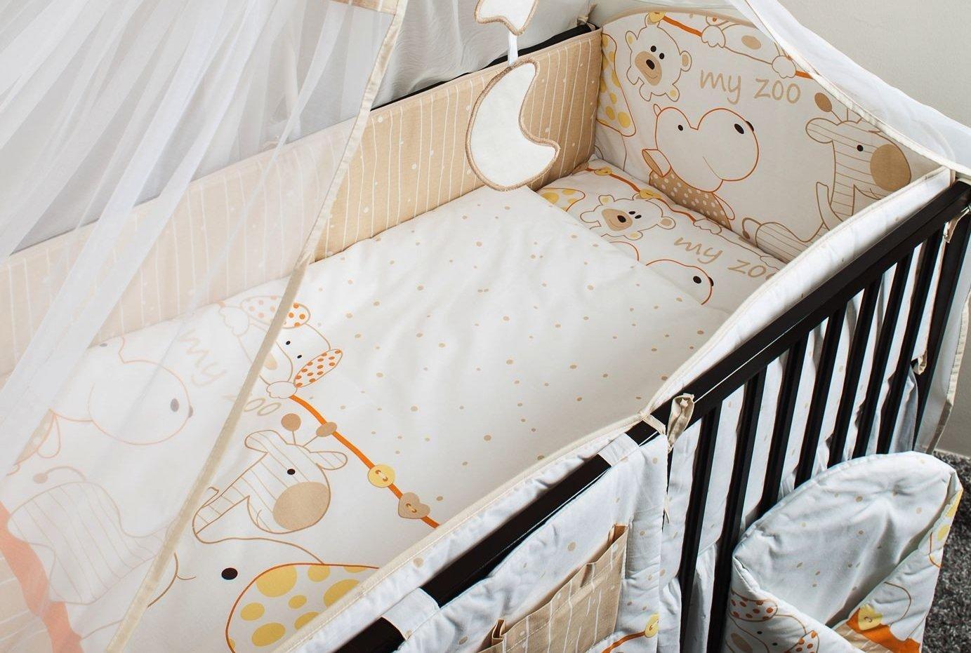 Bērnu gultas veļa: 6 daļas ANKRAS MY ZOO K-6 orange ANKR-MYZ-O.K6