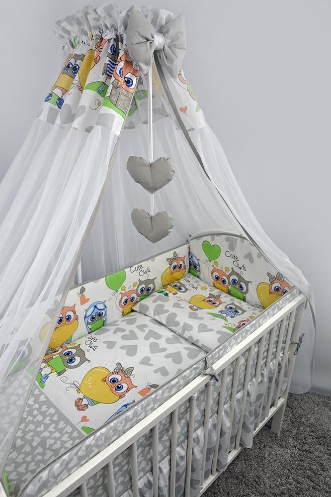 Bērnu gultas veļa: 6 daļas Ankras OWLS-HEARDS K-6 grey (135, 360)
