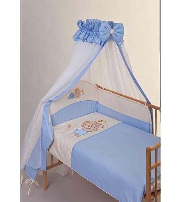 Bērnu gultas veļa: 6 daļas Puchatek DREAMER K-6 blue (135,180)