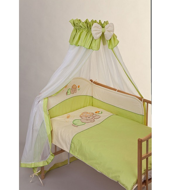 Bērnu gultas veļa: 6 daļas PUCHATEK DREAMER K-6 green PUC-K6DRE.G2