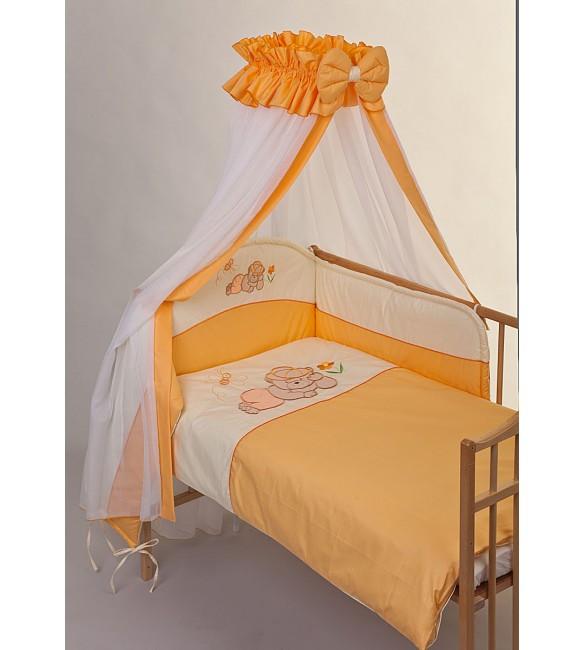 Bērnu gultas veļa: 6 daļas Puchatek DREAMER K-6 orange PUC-K6DRE.OR2