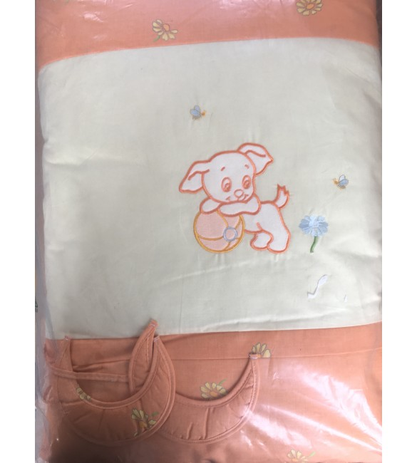 Bērnu gultas veļa: 6 daļas Puchatek FUNNY DOG K-6 orange PUC-K6FD.OR2