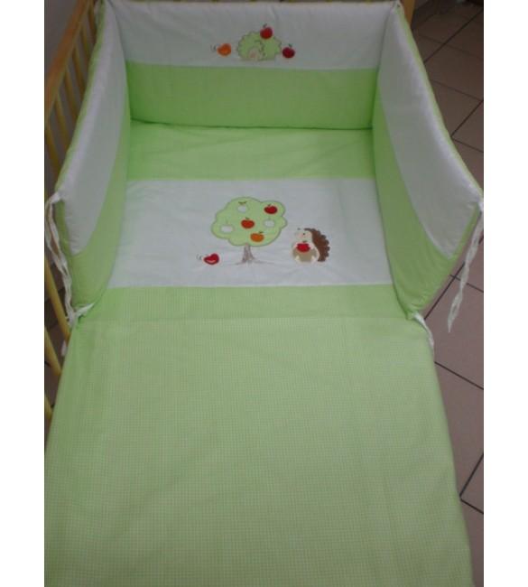 Bērnu gultas veļa: 6 daļas Puchatek HEDGEHOG K-6 green (135, 180)