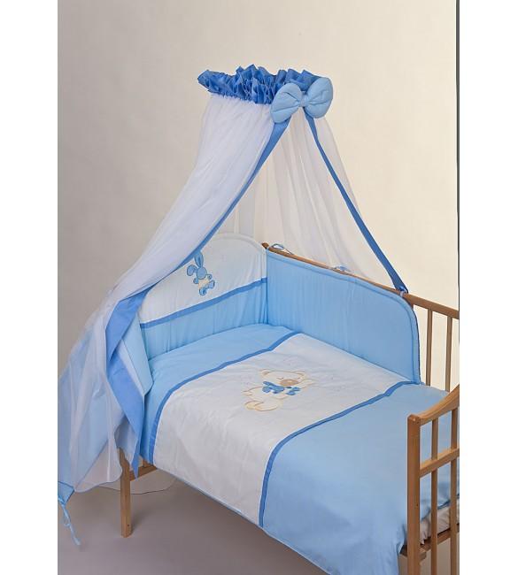 Bērnu gultas veļa: 6 daļas Puchatek SLEEPING BEAR K-6 blue PUCH-K6SB.B2