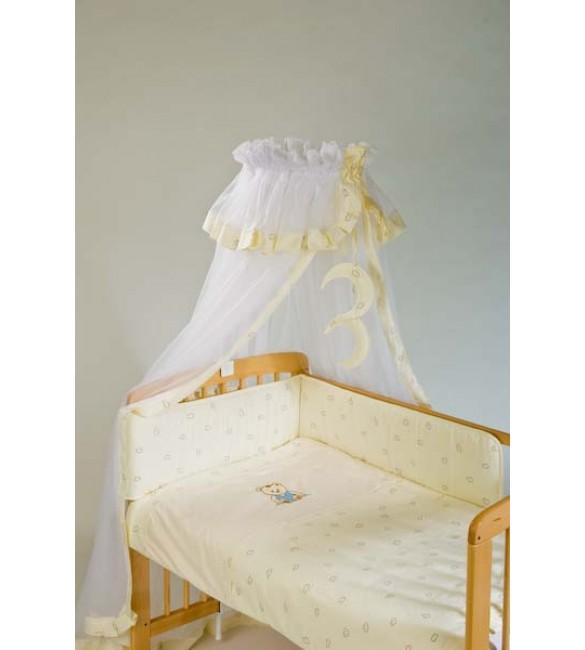 Bērnu gultas veļa: 6 daļas Puchatek SONIA FAMILY K-6 beige (135,180)