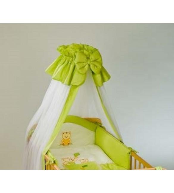 Bērnu gultas veļa: 6 daļas Puchatek SONIA FAMILY K-6 green (135,180)