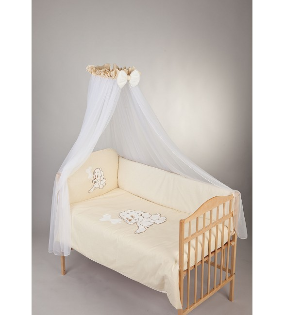 Bērnu gultas veļa: 7 daļas PUCHATEK DOGGY K-7 beige PUC-K7DOG360.BE2