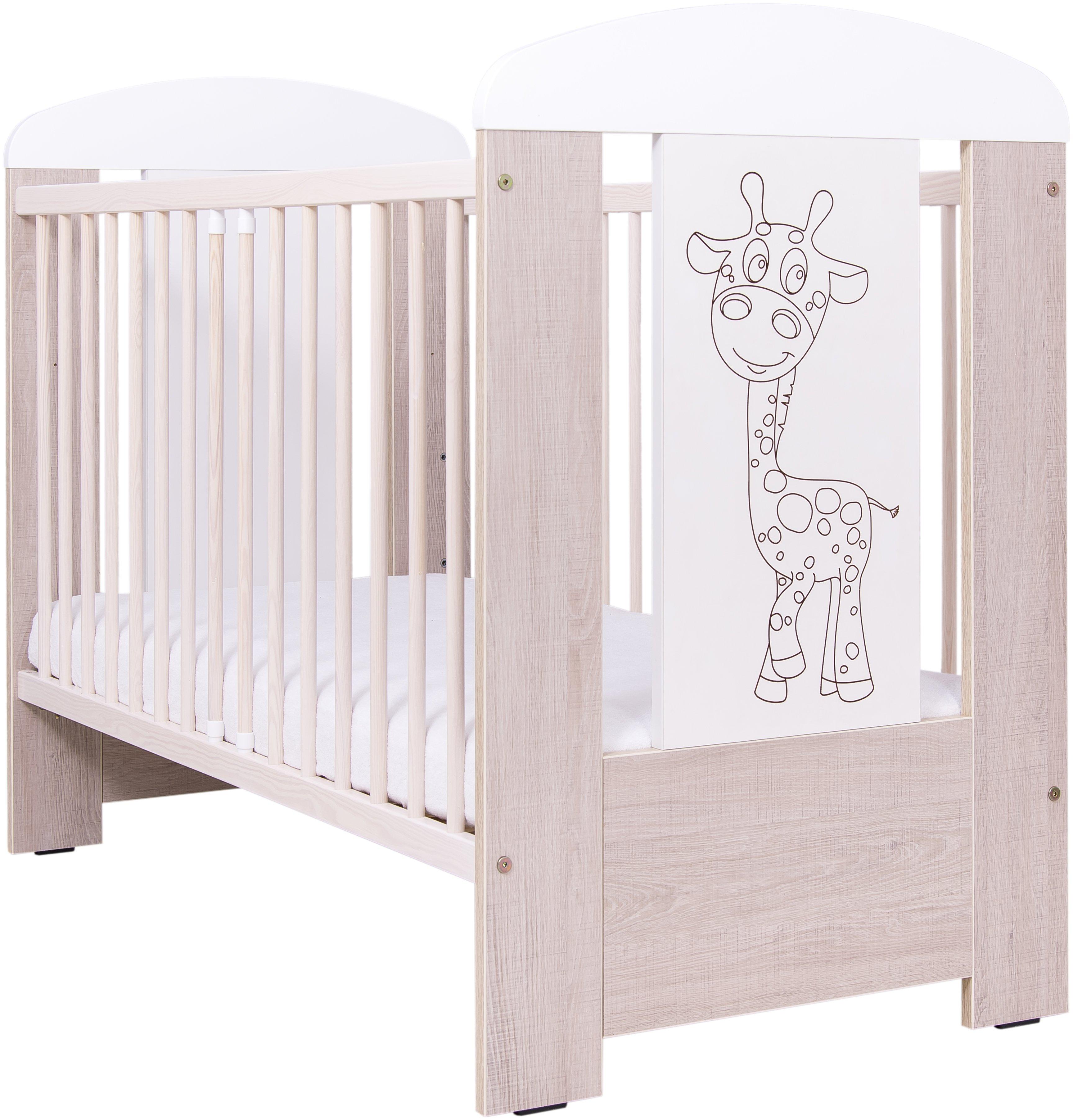 Bērnu gultiņa Drewex GIRAFFE (Žyrafka) oak santana