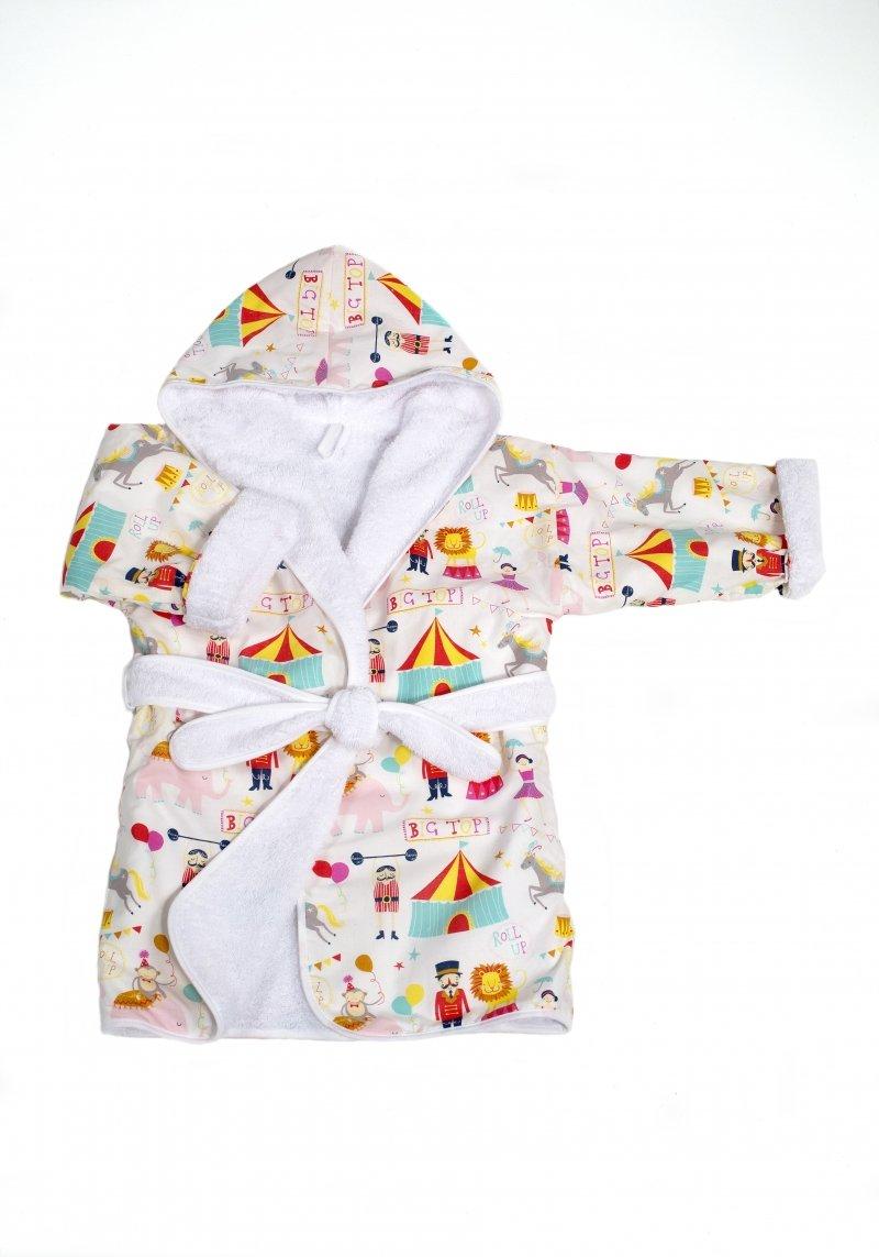 Bērnu halāts ar kapuci Troll Bathrobe Circus ASC-BRCC01-AS-WH