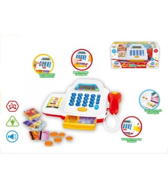 Bērnu kases aparāts ar aksesuāriem 27x16x13 cm 7107049