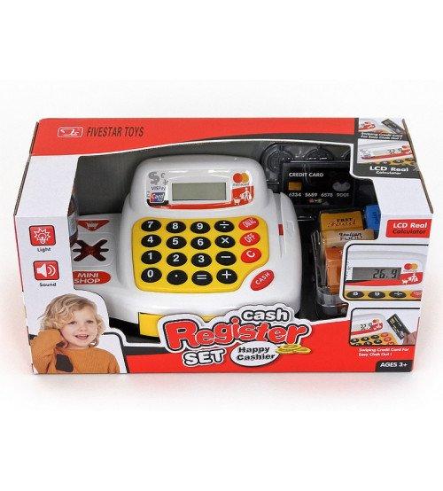Bērnu kases aparāts ar LCD ekrānu un produktiem 500693