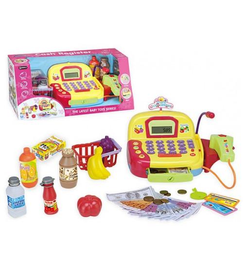 Bērnu kases aparats ar mikrofonu, gaismu un LCD ekrānu 137110