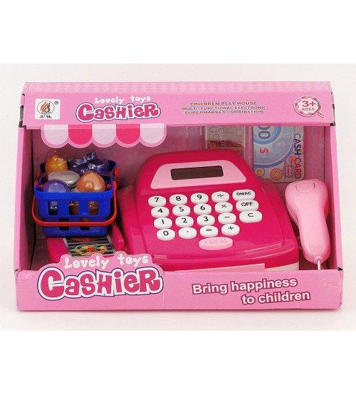 Bērnu kases aparats ar skaneri, gaismu, skaņu un LCD ekrānu 428942