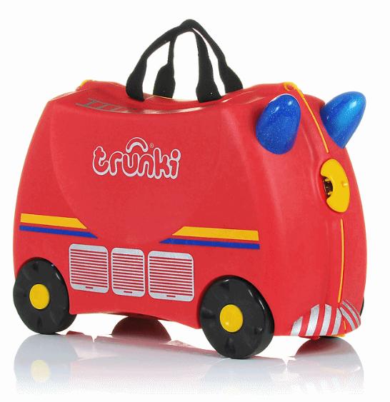 Bērnu koferis ar riteņiem Trunki Frank Fire Truck