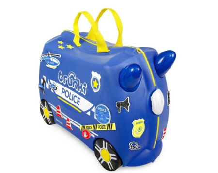 Bērnu koferis ar riteņiem Trunki Percy Police car