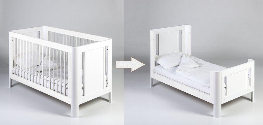 Bērnu kokā gulta - transformeris TROLL Sun White CBD-SU0373