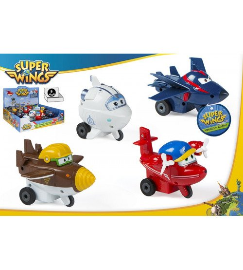 Bērnu lidmašīna Super Wings 4 veidi 12x8 cm CB43970