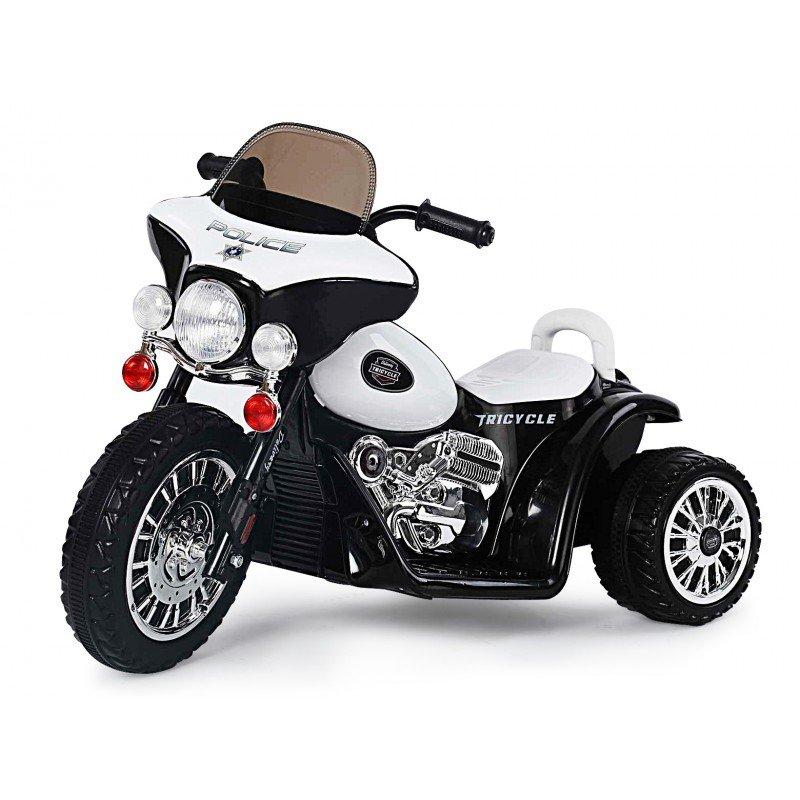 Bērnu motocikls ar akumulatoru POLICE black