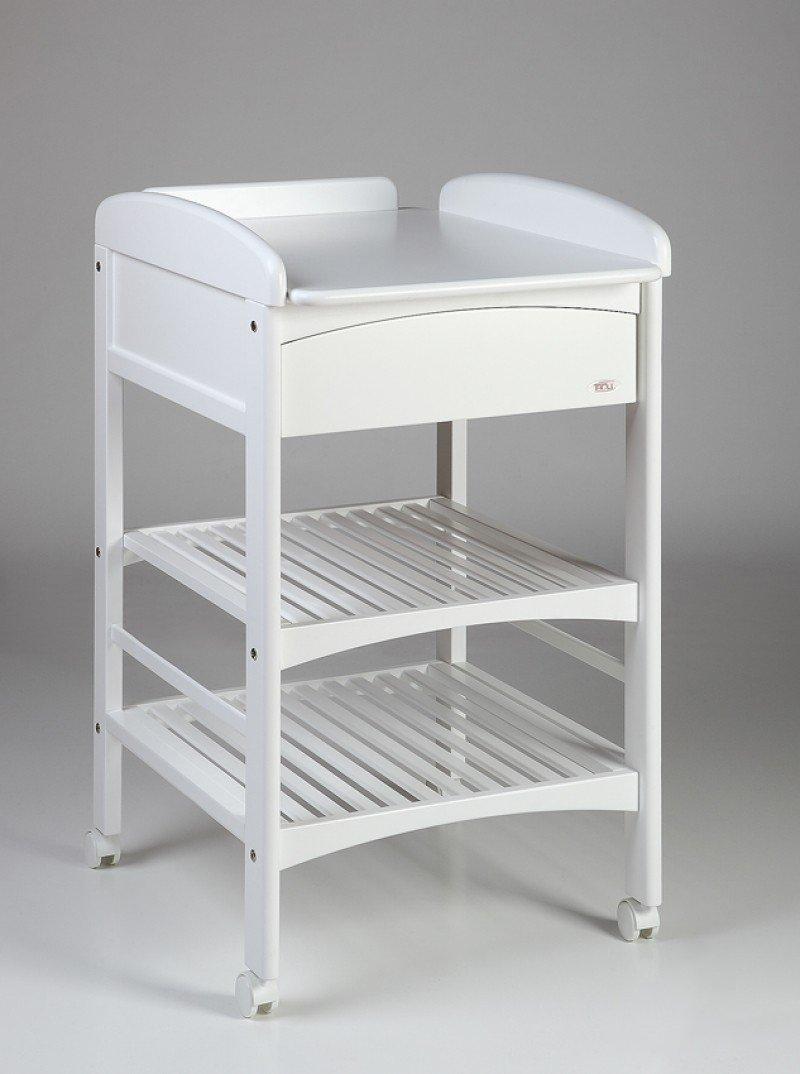 Bērnu pārtinamais galds ar atvilktni TROLL Anna Lux White CTL-LX0122