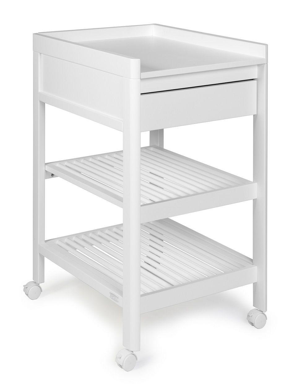 Bērnu pārtinamais galds ar atvilktni TROLL Lukas White CTL-LU0523SFG-NA