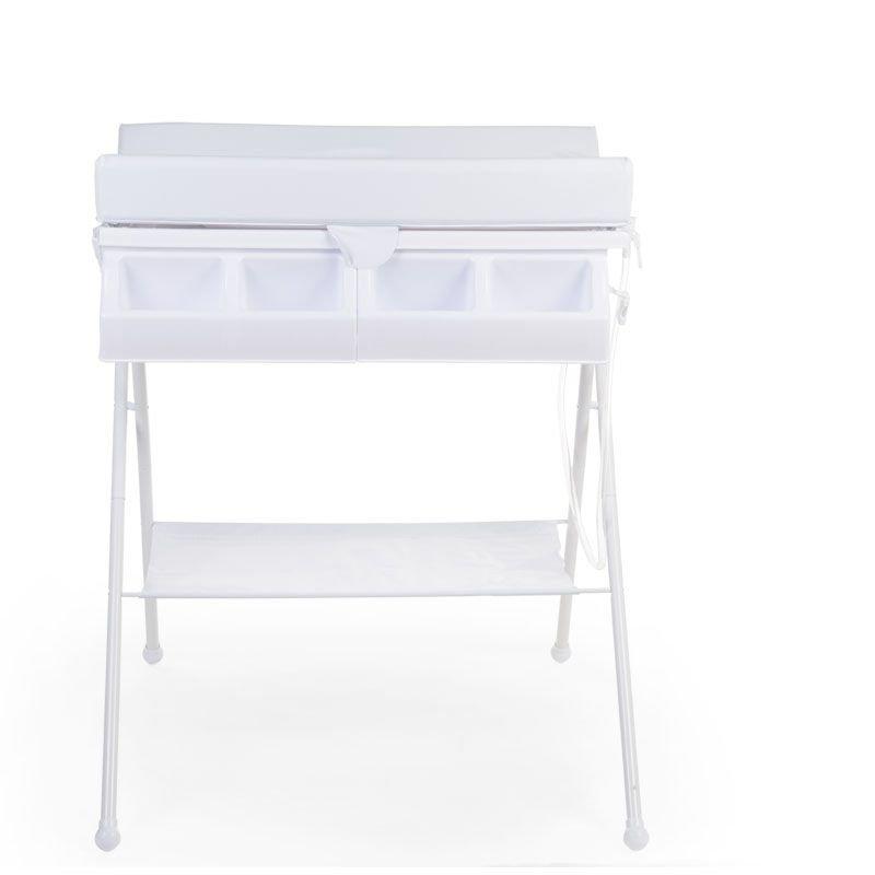 Bērnu pārtinamais galds ar vanniņu CHILDHOME white