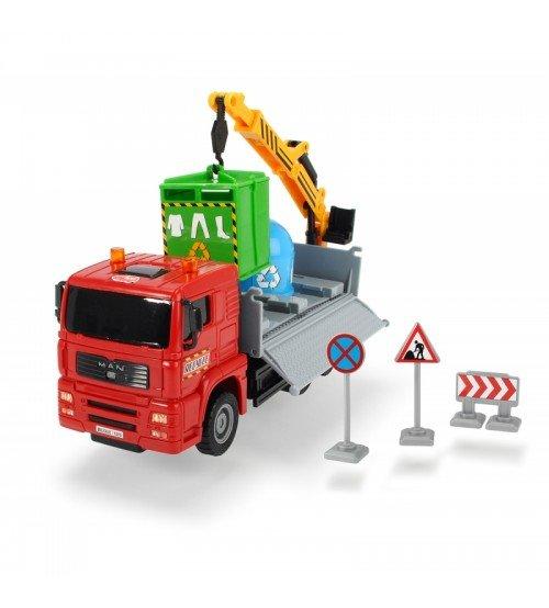 Bērnu pašizgazējs atkritumu mašīna ar celtni DICKIE TOYS Red 3744003_CZER