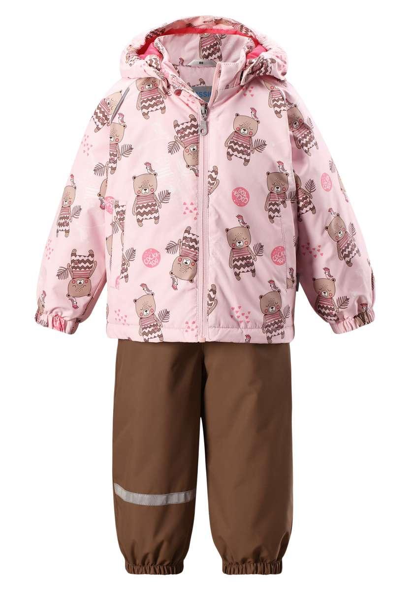 Bērnu pavasara-rudens komplekts: jaka un bikses Lassie'18 Lassietec® Baby Pink Art.713722-4071