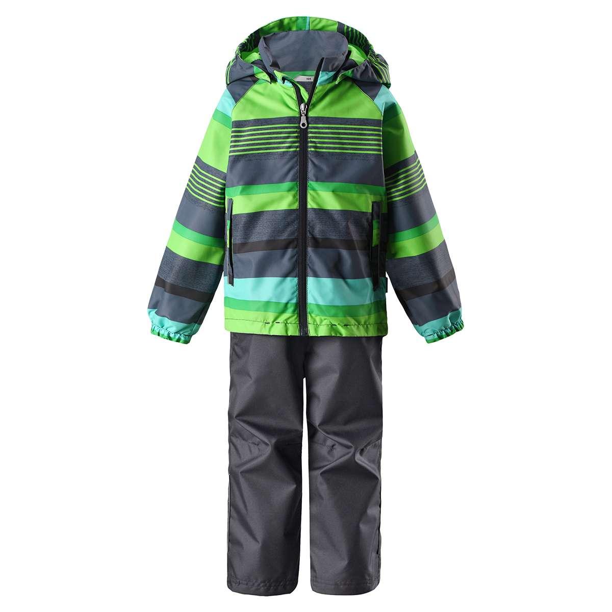 Bērnu pavasara-rudens komplekts: jaka un bikses Lassie'18 Lassietec® Neon Green Art.723723-8272