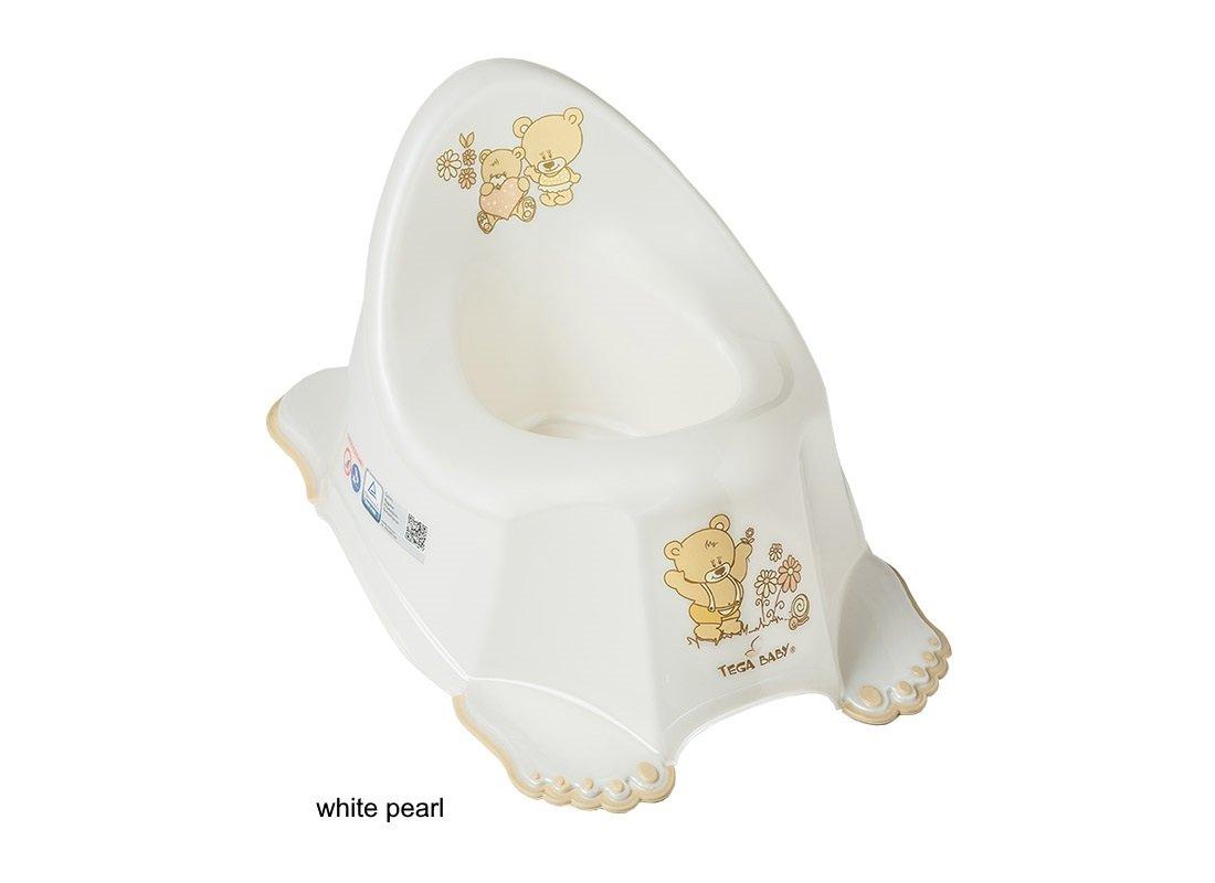 Bērnu podiņš anatomiskais TegaBaby BEAR white pearl MS-013