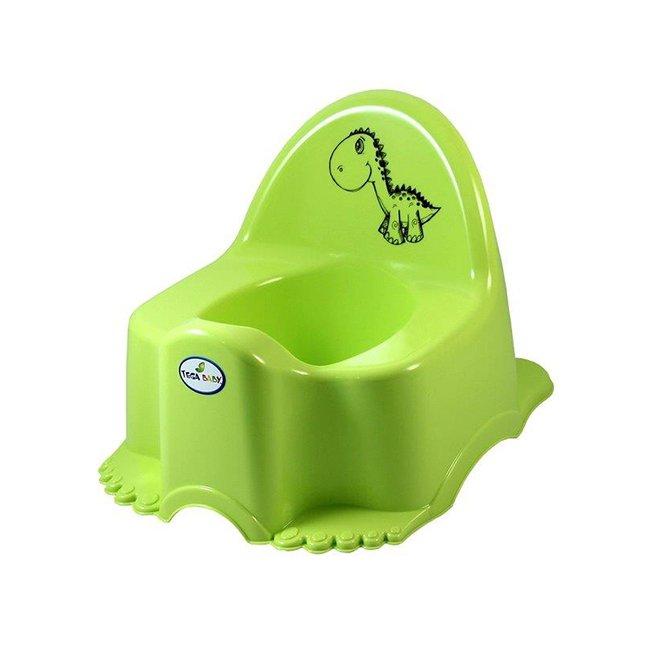 Bērnu podiņš ar mūziku ECO DINO light green TegaBaby PO-056