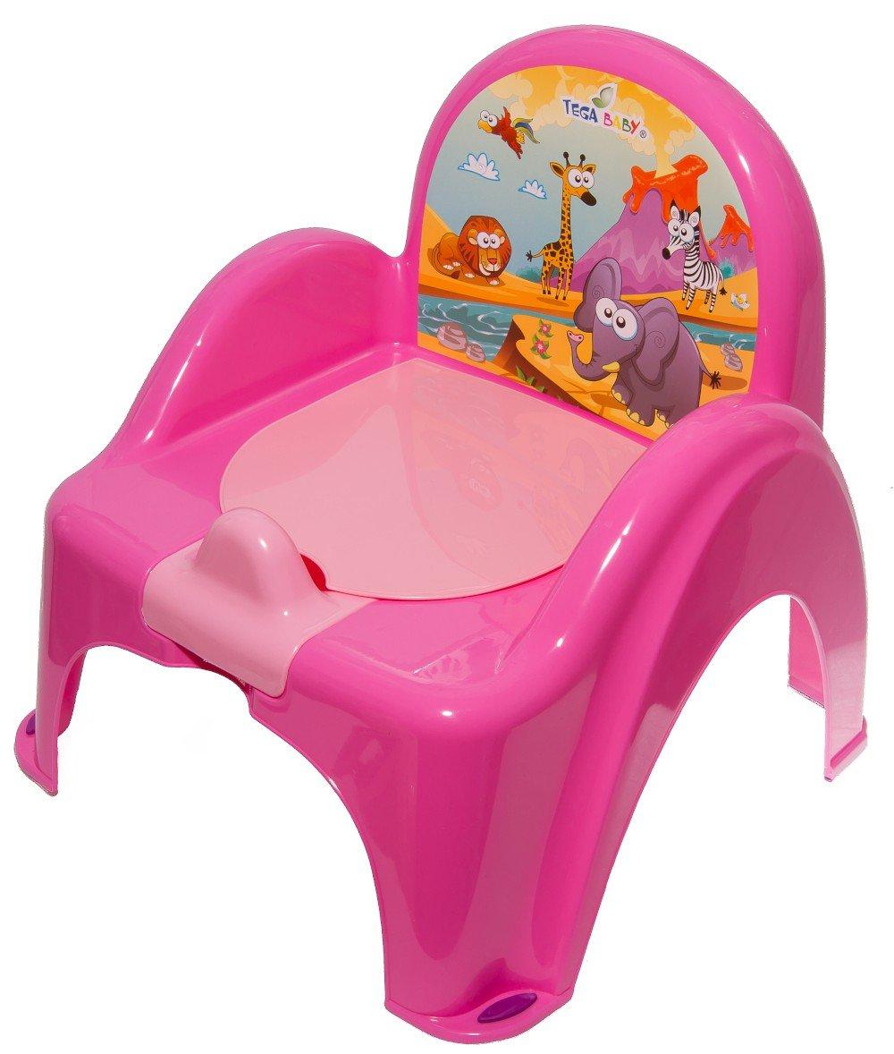 Bērnu podiņš-krēsliņš TegaBaby SAFARI dark pink SF-010