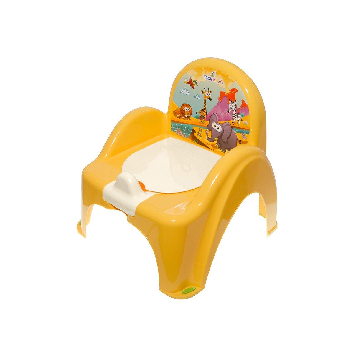 Bērnu podiņš-krēsls TegaBaby SAFARI yellow SF-010
