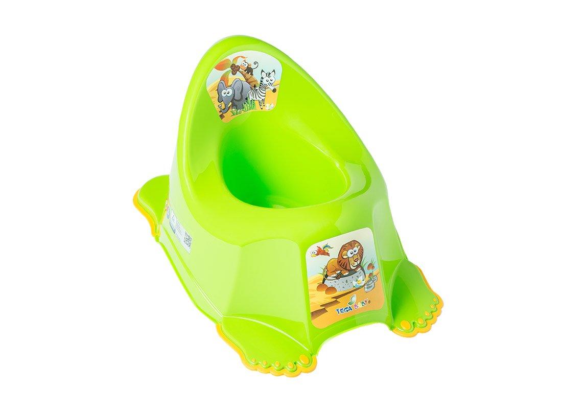 Bērnu podiņš muzikālais TegaBaby SAFARI green PO-045