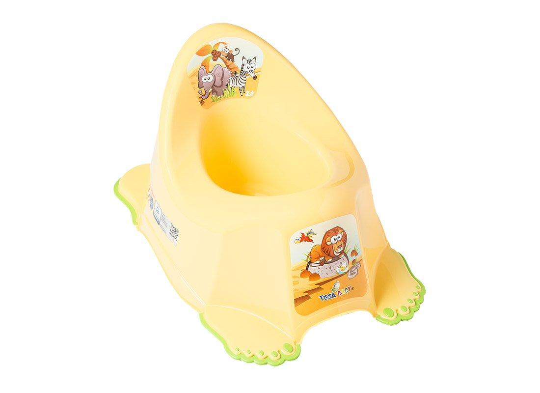 Bērnu podiņš muzikālais TegaBaby SAFARI yellow SF-010