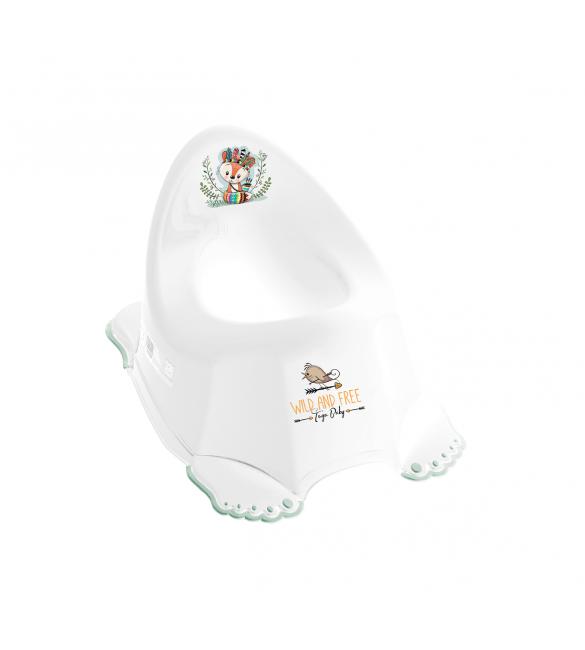 Bērnu podiņš Tega Baby neslīdošs WW Little Fox white/green DZ-001FOX