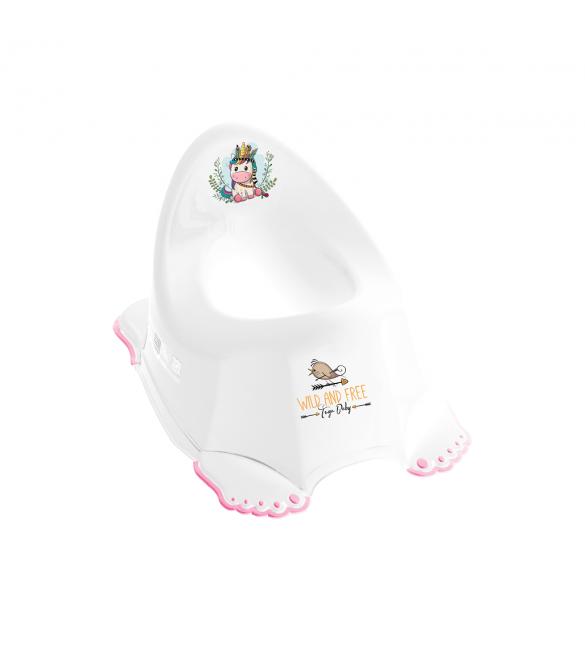 Bērnu podiņš TegaBaby neslīdošs WW UNICORN white/pink DZ-001UNI