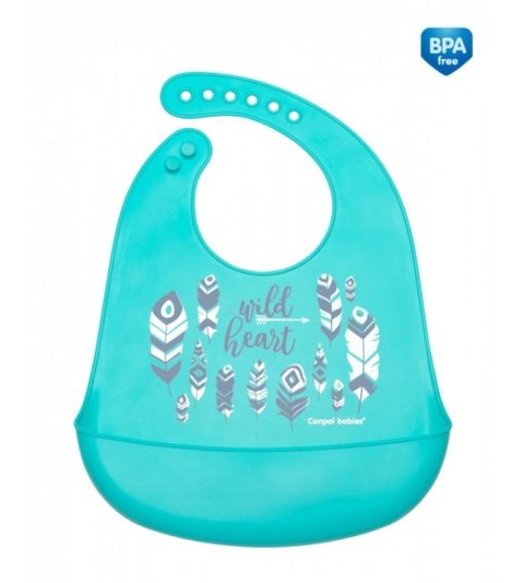 Bērnu priekšautiņš ar kabatu Canpol Wild Nature blue 74/023