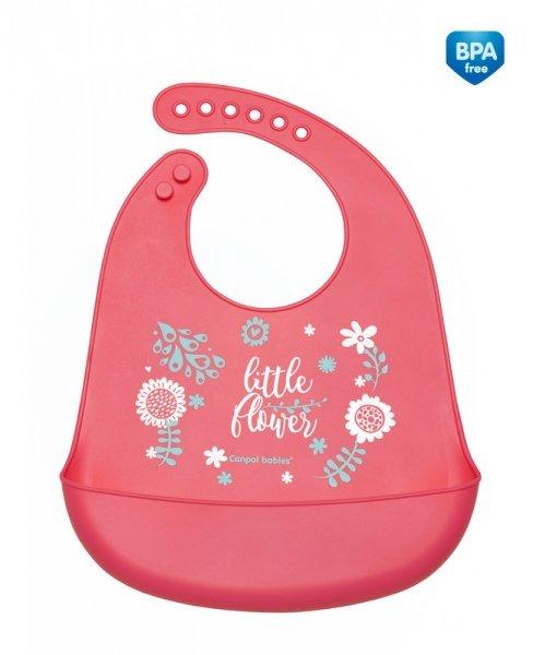 Bērnu priekšautiņš ar kabatu Canpol Wild Nature pink 74/023