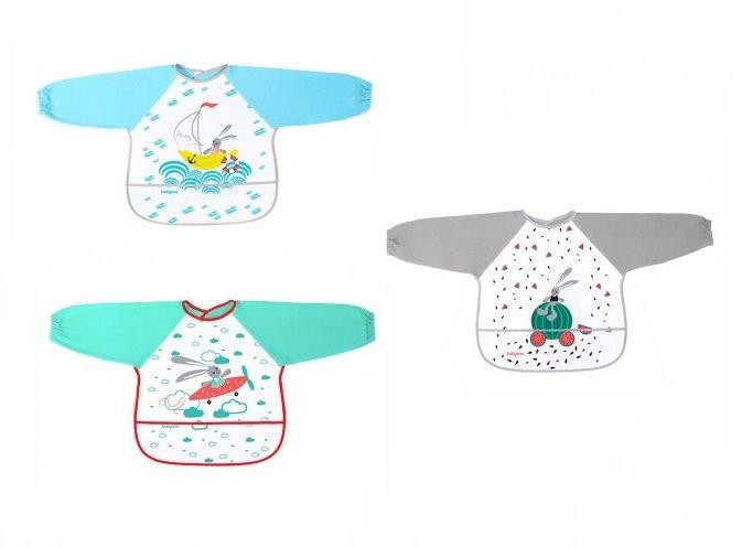 Bērnu priekšautiņš ar piedurknēm frotē-PVC BabyOno 837