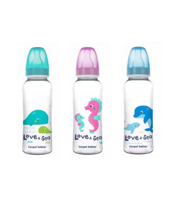 Bērnu pudele 250 ml Canpol LOVE&SEA 59/400
