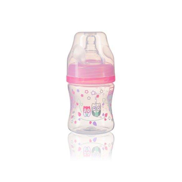 Bērnu pudele ar plato kakliņu 120ml BabyOno pink 402/02