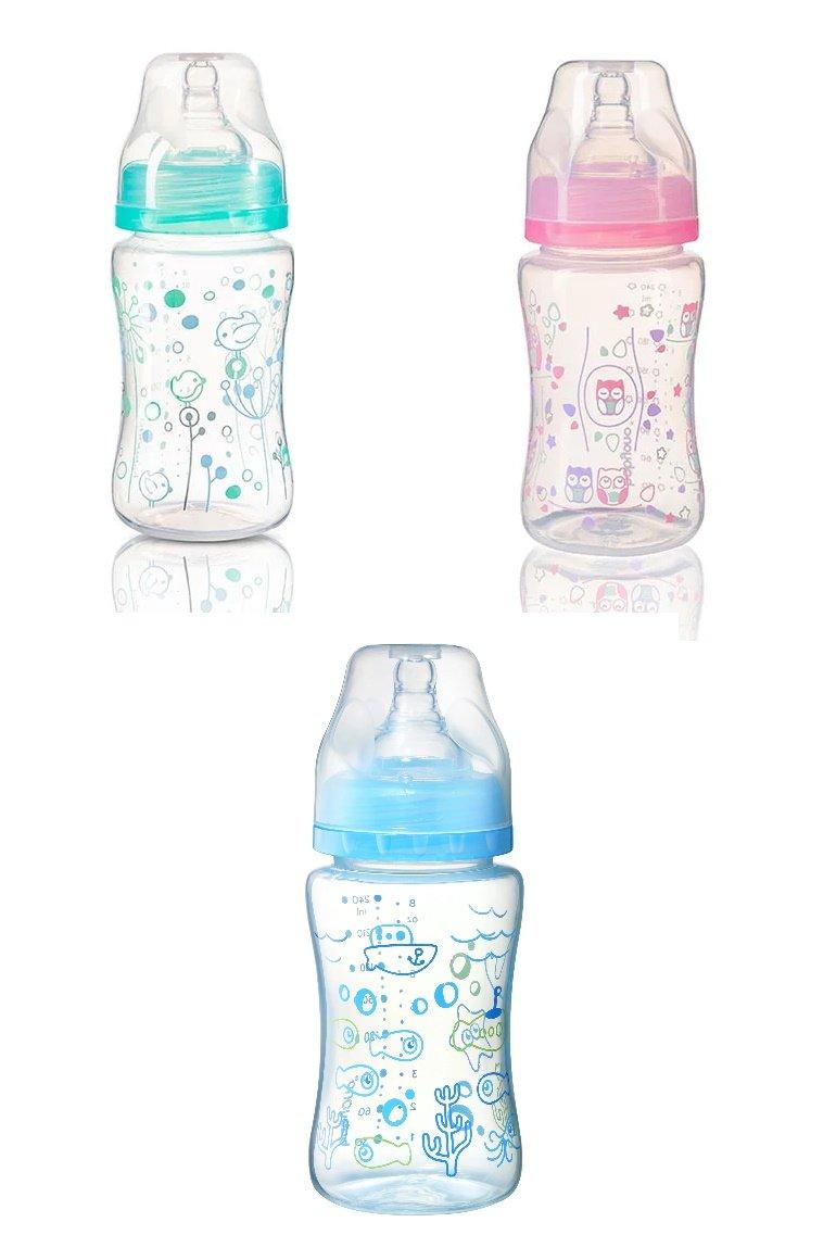 Bērnu pudele ar plato kakliņu 240 ml BabyOno 403