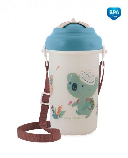 Bērnu pudele ar salmiņu 400 ml Canpol ADVENTURE blue 4/107