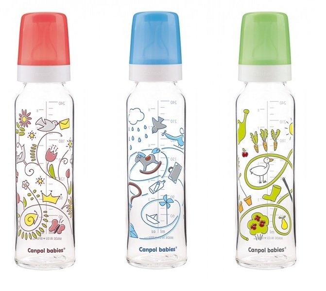 Bērnu pudele ar zīmējumu 240ml Canpol 201
