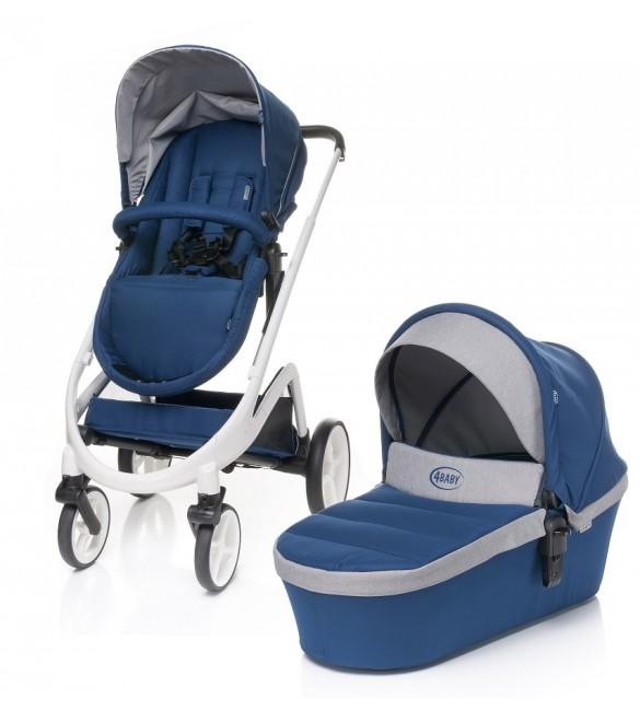 Bērnu rati 2 vienā universālie 4BABY COSMO 2in1 NAVY BLUE