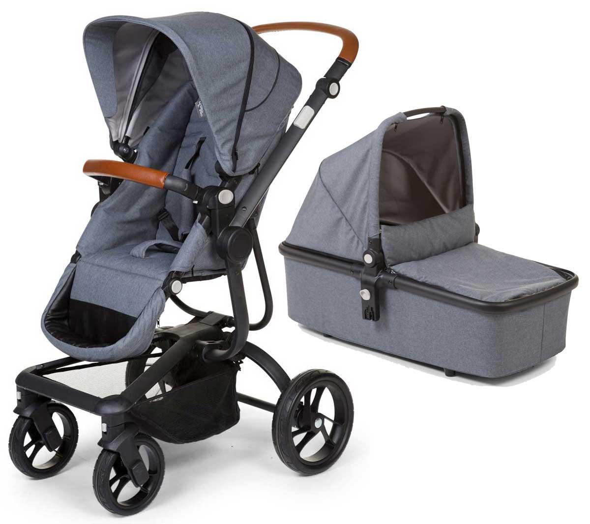 Bērnu rati 2 vienā universālie CHILDHOME Urbanista canvas grey