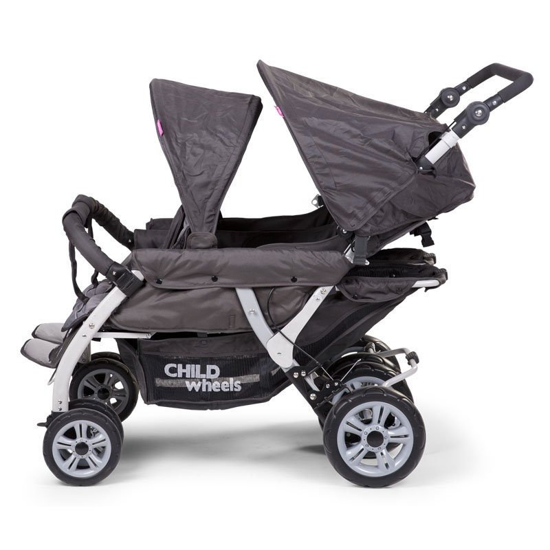 Bērnu rati četriem CHILDHOME CHILDWHEELS Quadruple 2 Autobrake anthracite + RC + SC