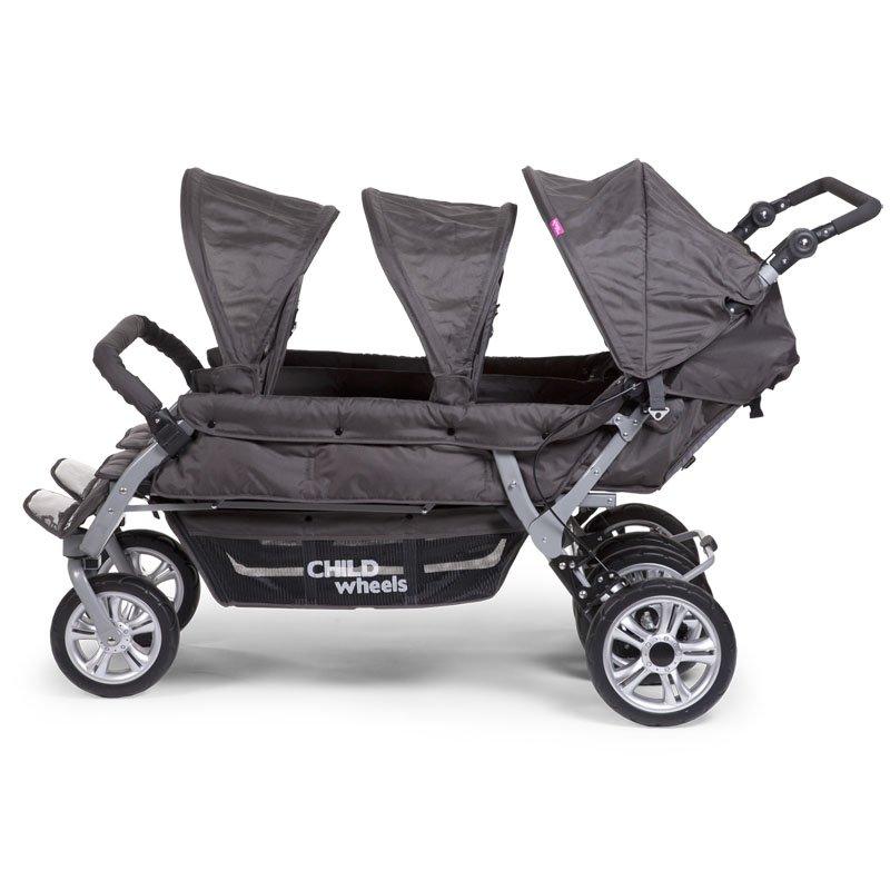Bērnu rati sešiem CHILDHOME CHILDWHEELS 2 Autobrake anthracite + RC + SC
