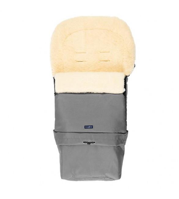 Bērnu ratu guļammaiss ar aitas vilnas oderi Womar SLEEP&GROW Wool Gray S20-015