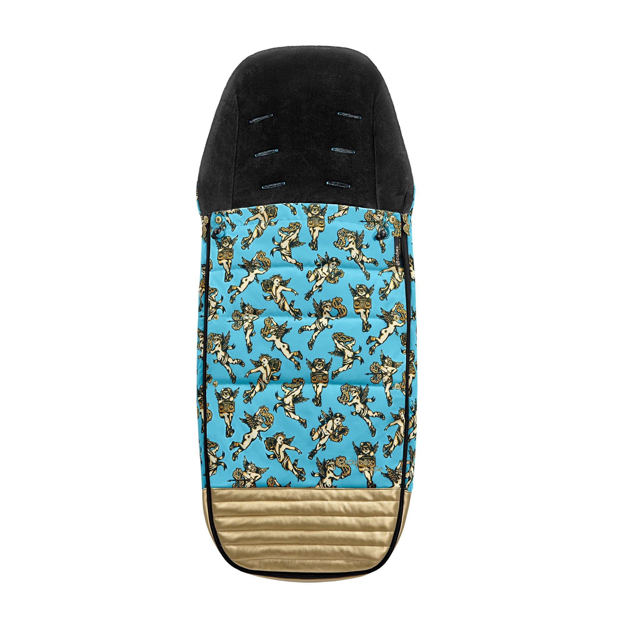 Bērnu ratu guļammaiss Cybex FOOTMUFF Cherub Blue by Jeremy Scott